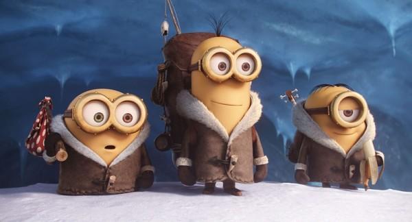 Bob, Kevin und Stuart starten ihre Reise. Screenshot aus dem offiziellen Trailer.