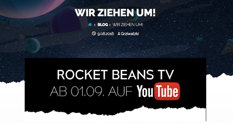 Screenshot: rocketbeans.tv