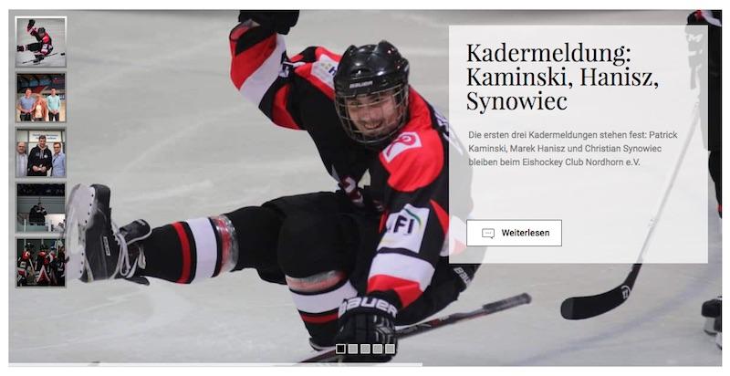 Screenshot: eishockeyclub-nordhorn.de
