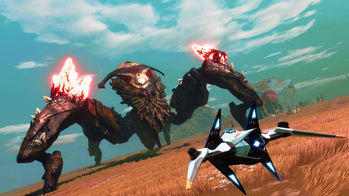 Auch am Boden wird bei Starlink: Battle for Atlas gekämpft.
