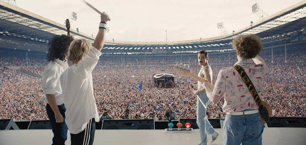 Die Band Queen beim Live Aid-Konzert. (c) 20th Century Fox.